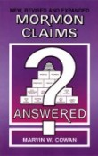 Book - Mormon Claims Answered by Marv Cowan - $4.50 with Free S&H